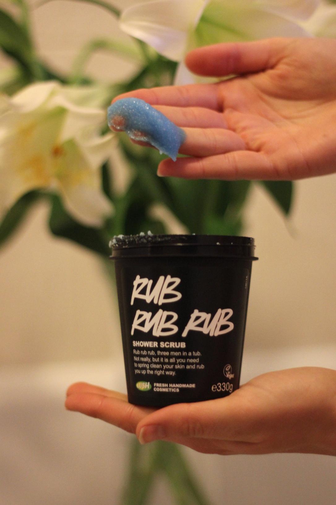 Lush Rub Rub Rub exfoliator