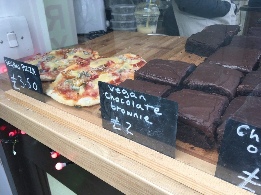 Vegan cakes at Kind Food, Norwich Market
