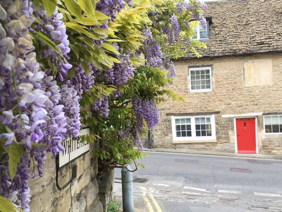 Cute street in Bradford on Avon