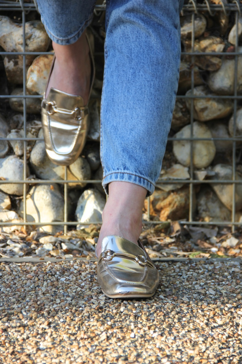 Gold Primark Loafers