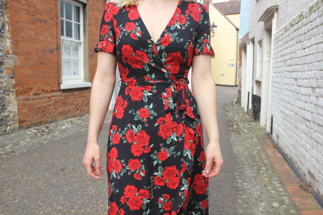 Rose print primark dress