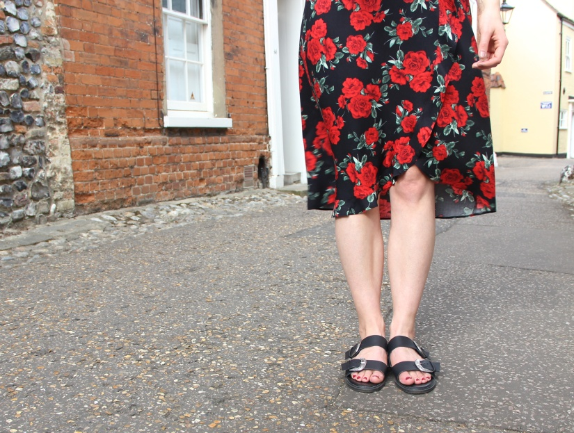 Summer dress and sandals