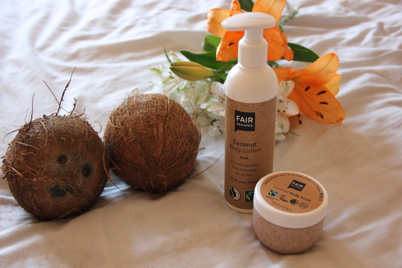 Fair Squared Coconut Body lotion and scrub