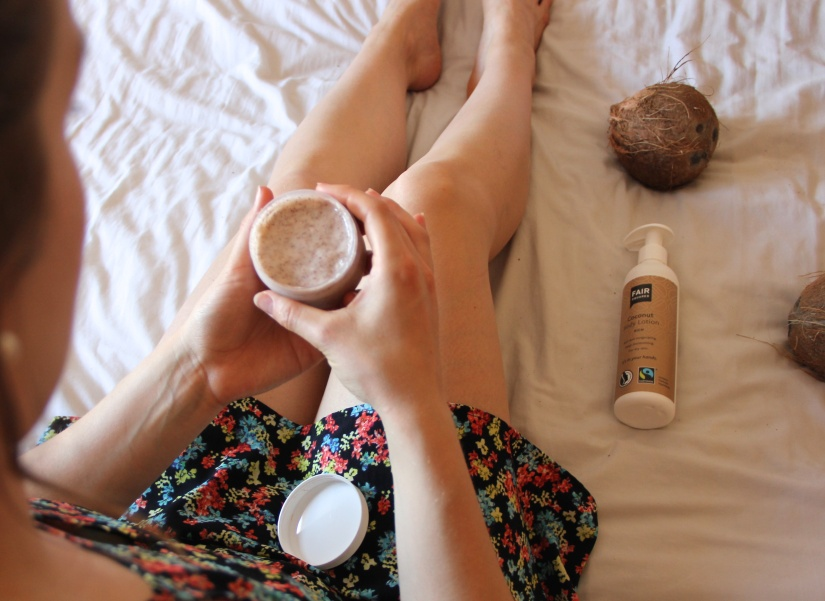 Fair Suared coconut body scrub review