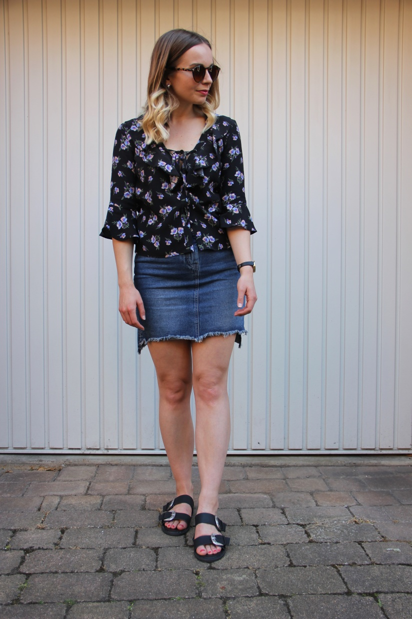 Floral and denim for summer