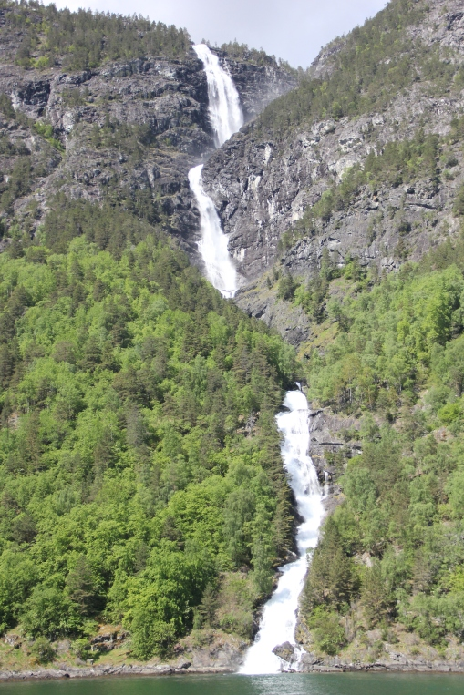 Fjords waterfall