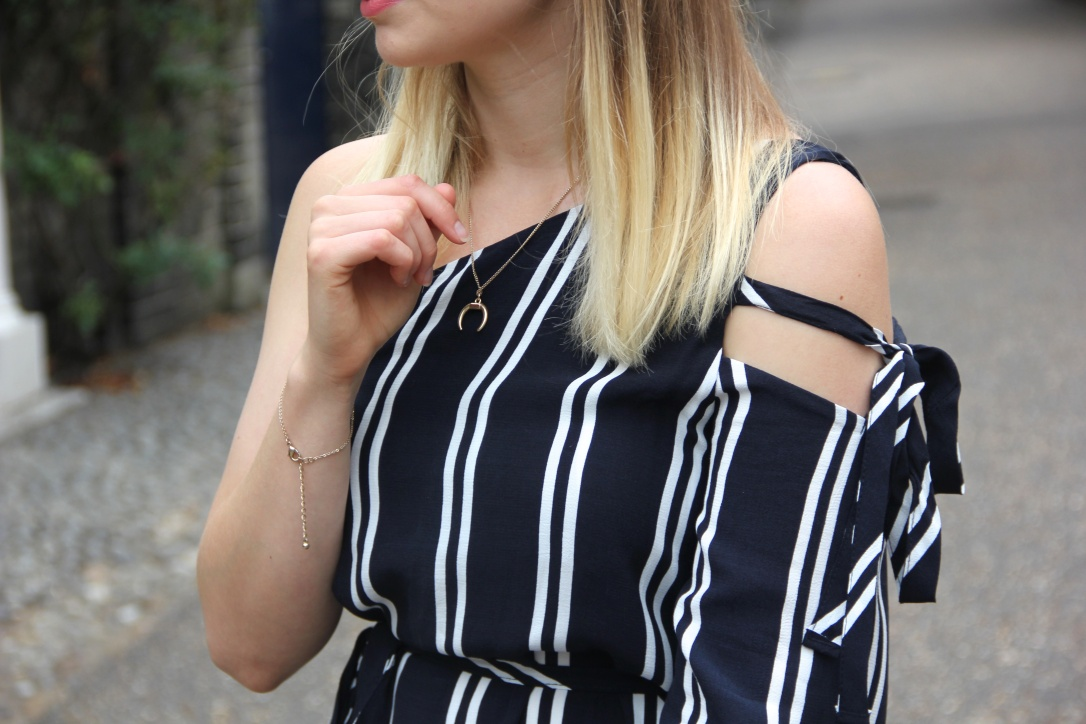 Zara Navy striped dress