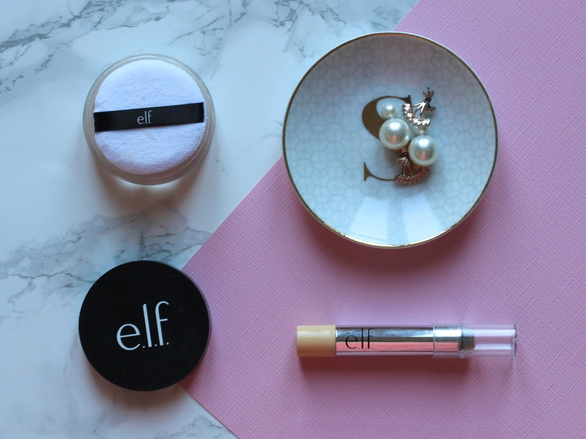 e.l.f b bare concealer and hd powder review