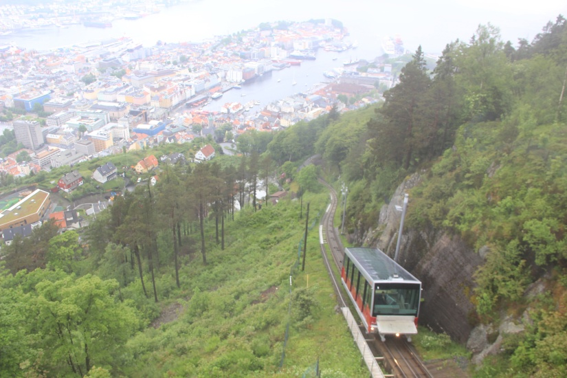Mount Floyen and the Funicular