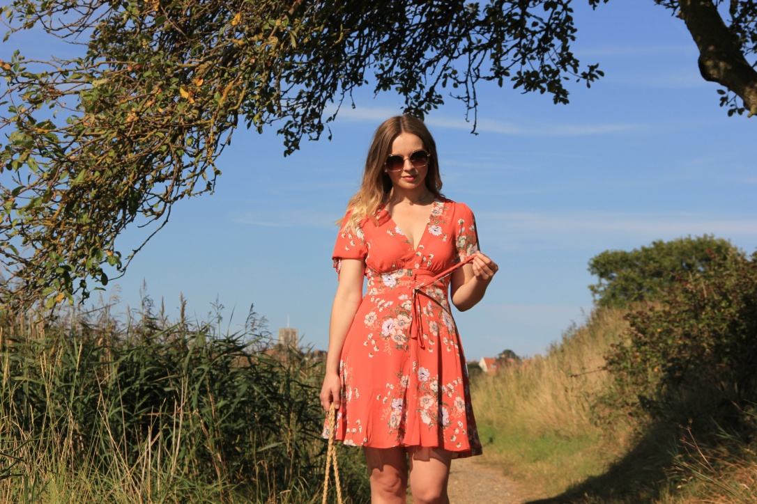 New Look orange floral dress