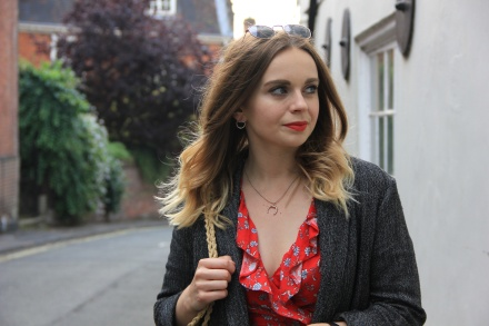 Ways to style a red tea dress
