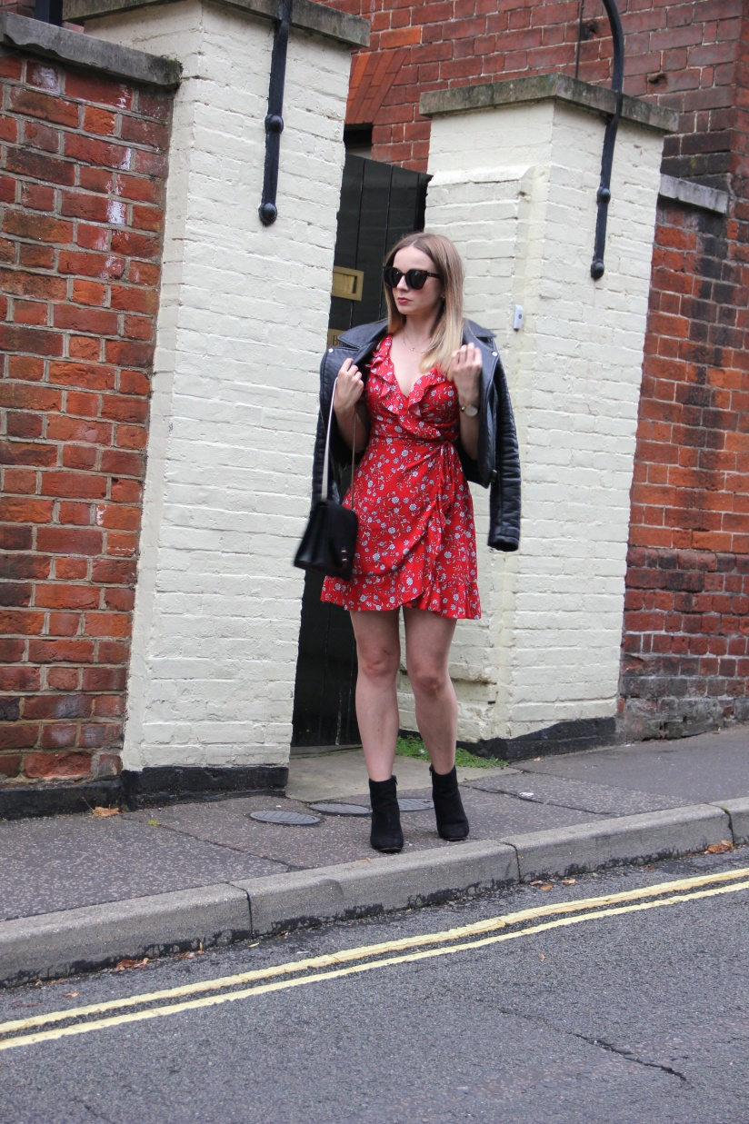 What to wear with a red floral dress