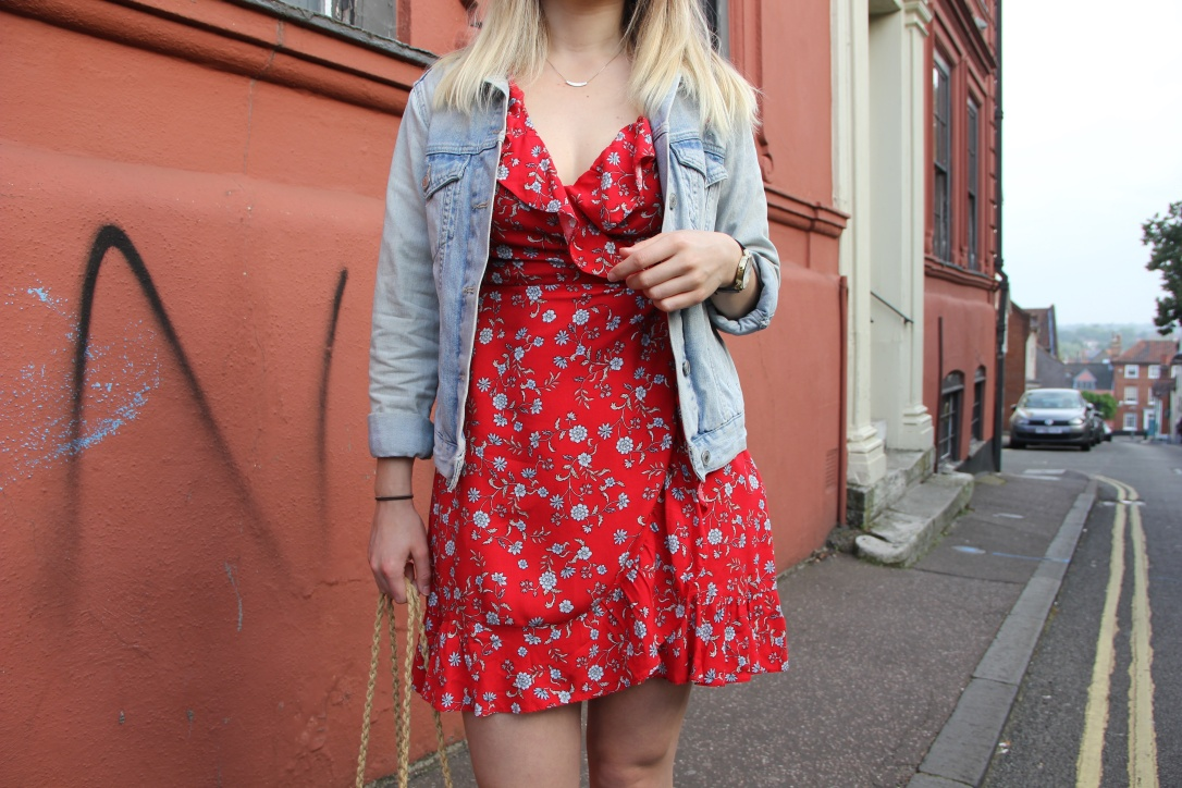 Wrap dress casual style