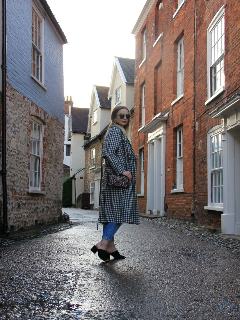 Gingham trench topshop