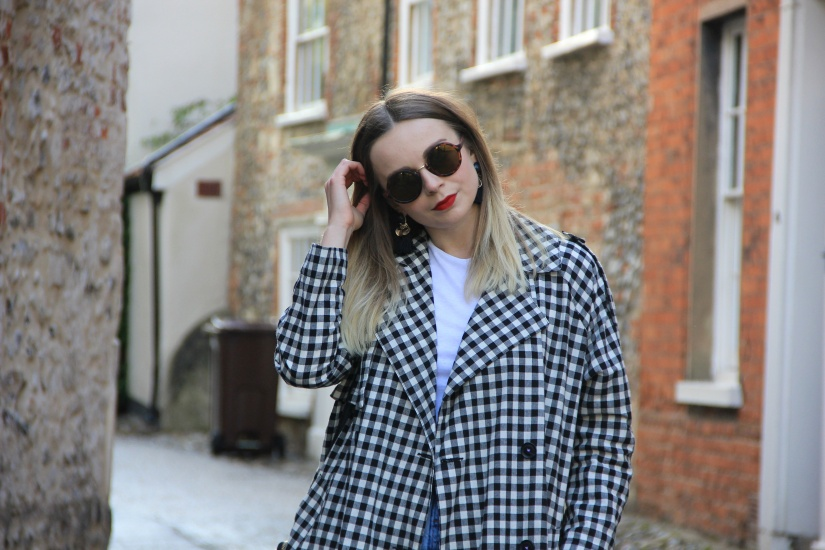 How to style a gingham duster coat