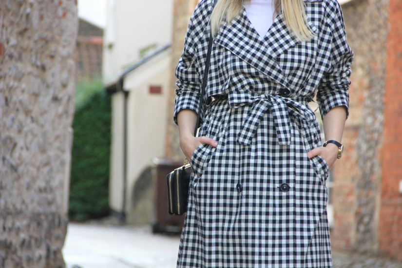 Topshop gingham trench