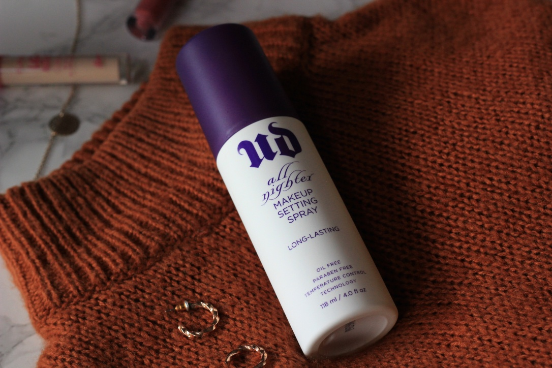 UD All Nighter setting spray review
