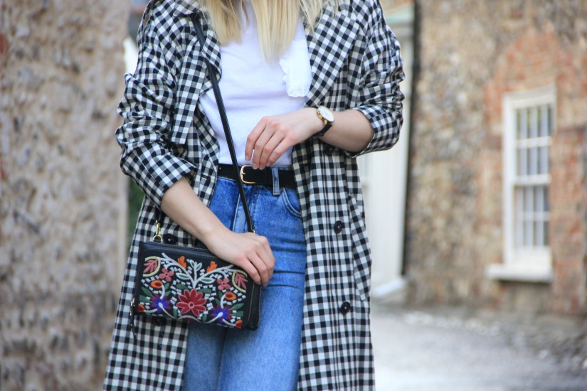 Ways to style a gingham trench coat