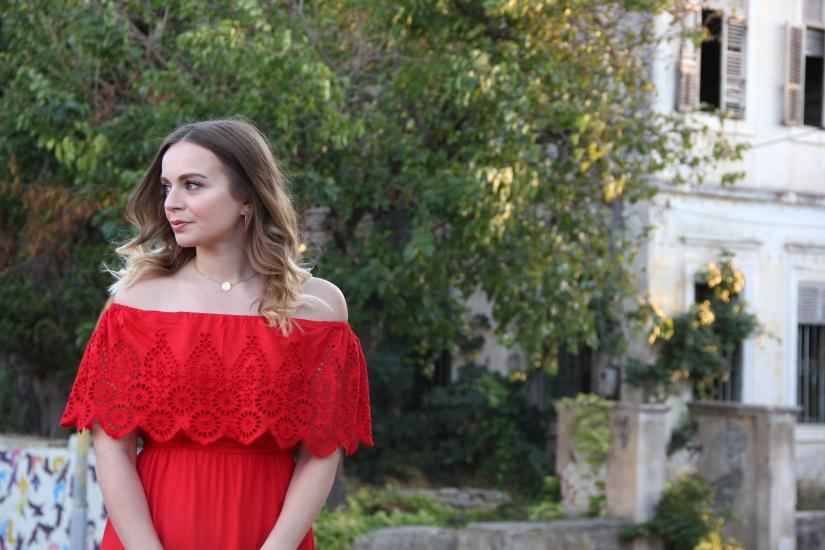 Holiday lookbook red bardot