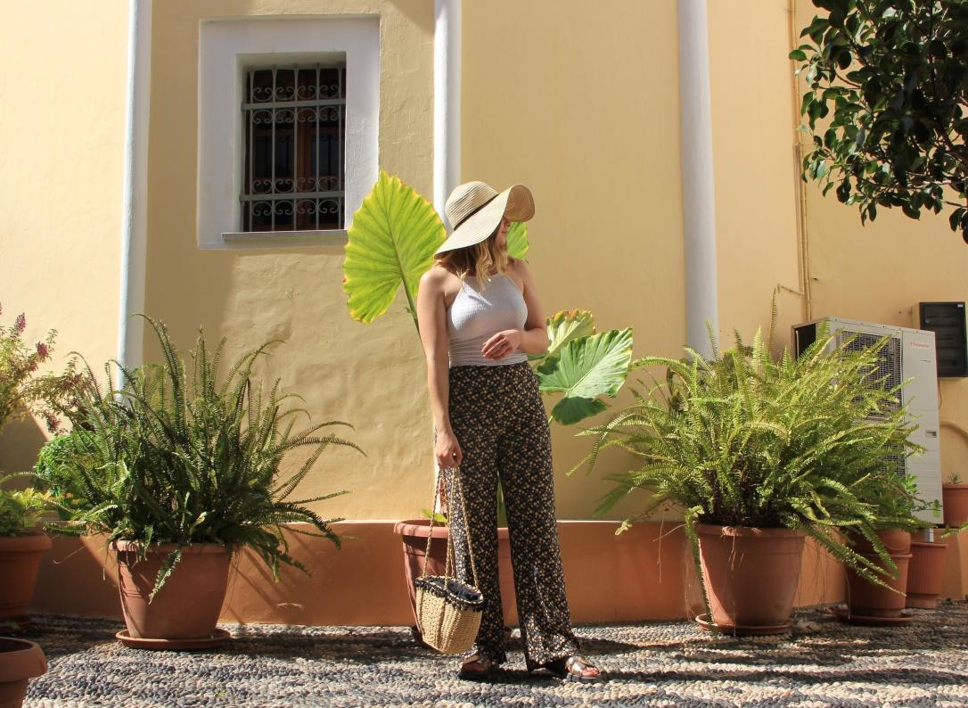 Holiday style palazzo pants