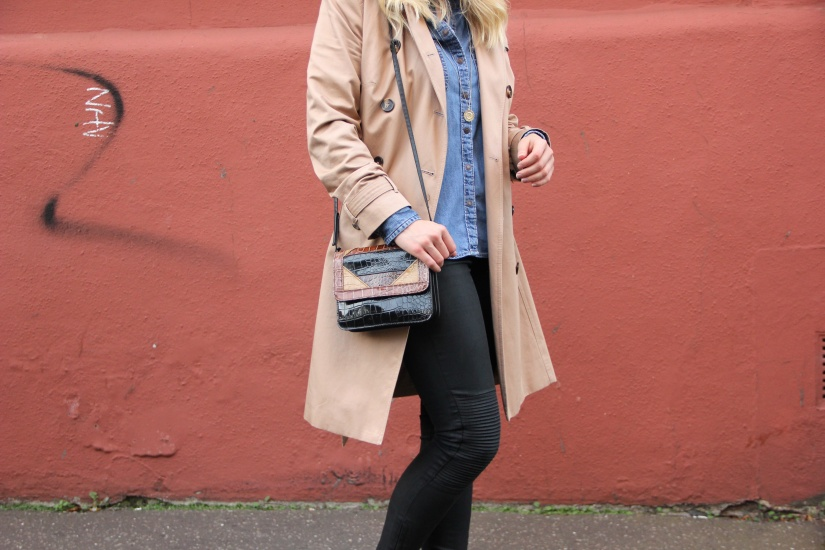 How to style a camel trench coat