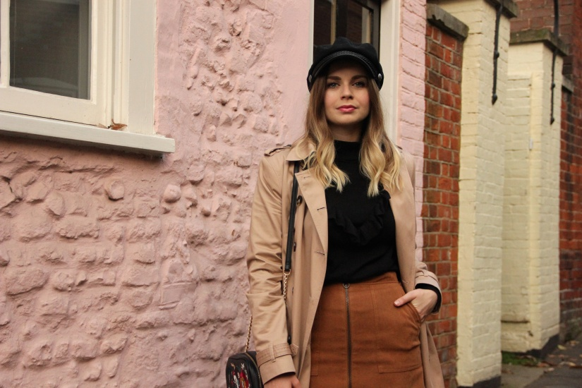 How to wear a camel trench coat