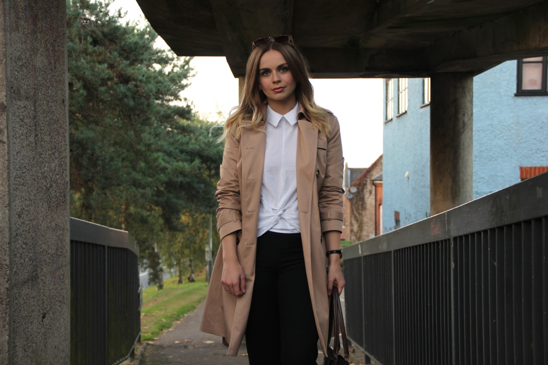 Style a trench coat for work