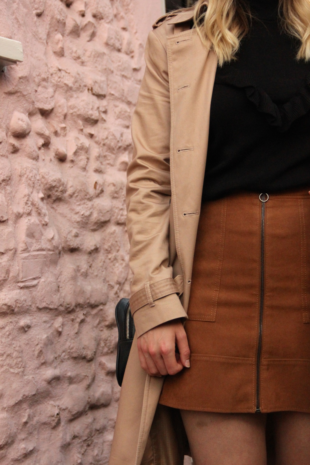Styling a camel trench coat