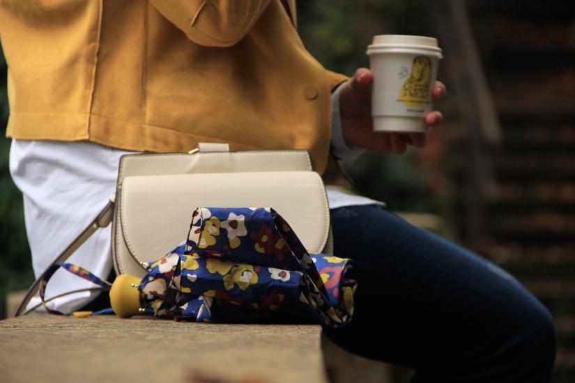 Umbrella and bag