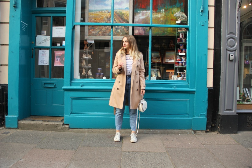 Ways to style a camel trench coat casual