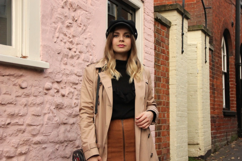Ways to style a camel trench coat