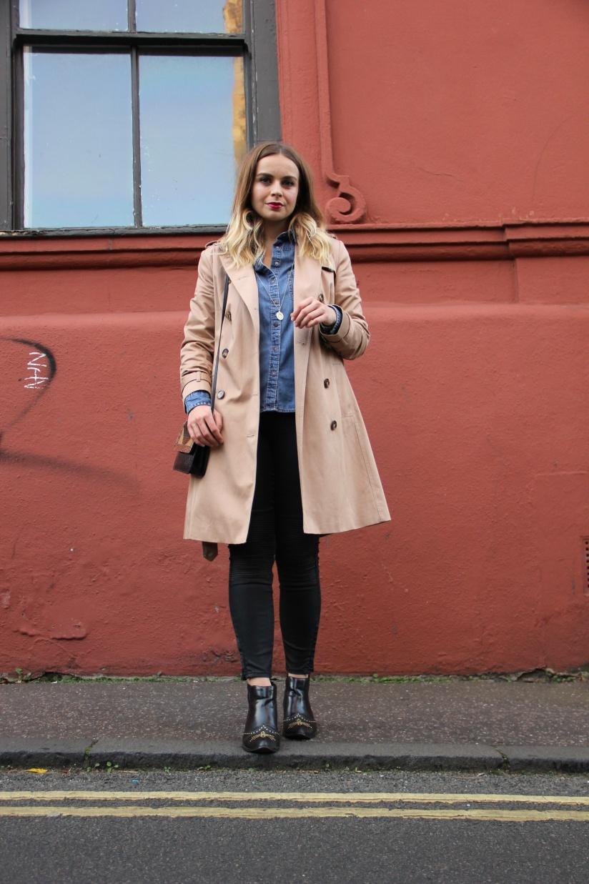 Ways to wear a camel trench coat