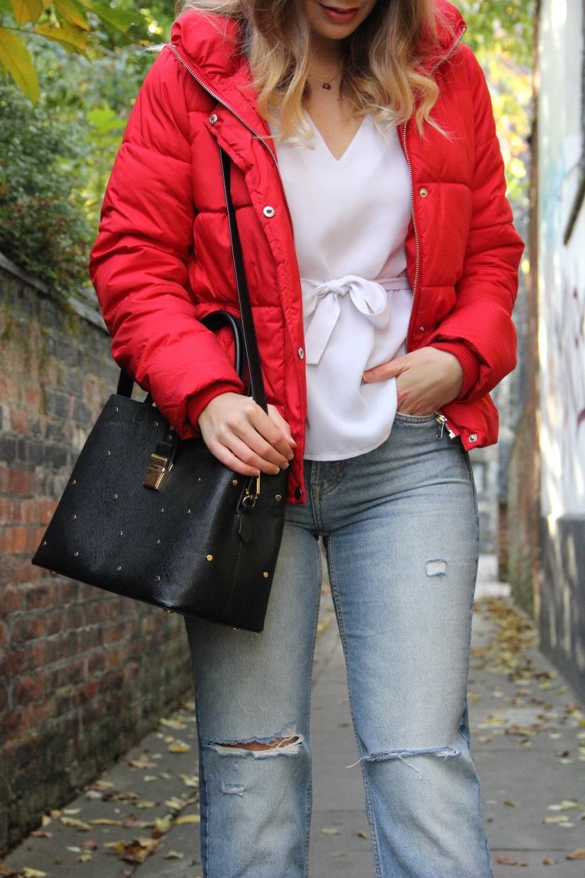 Matalan red puffa jacket
