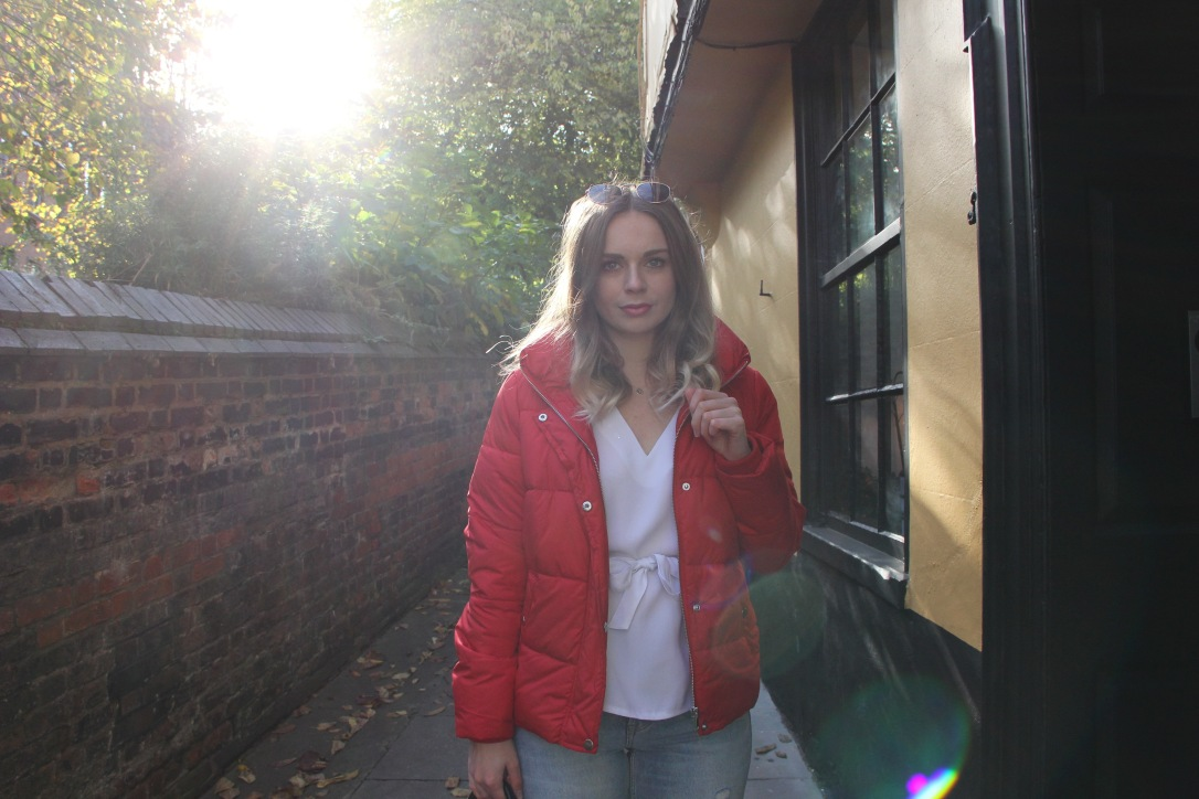 Red padded jacket Sophar So Good