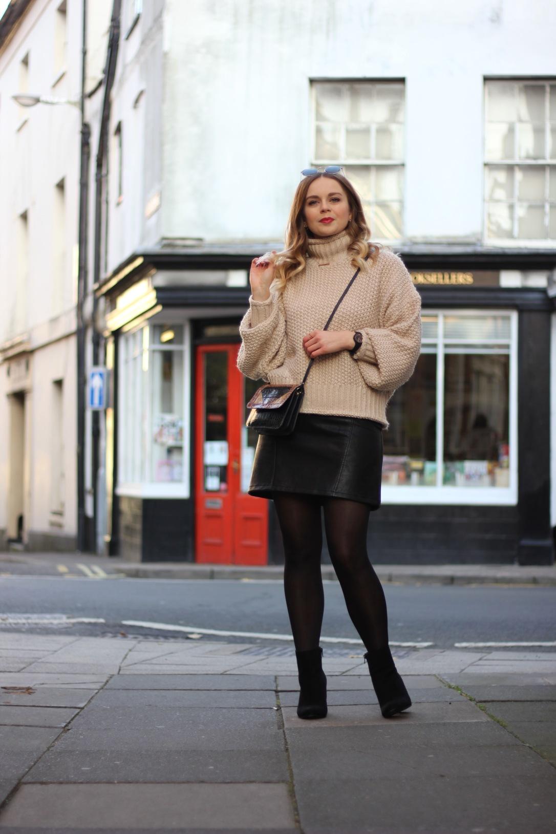 Sophar So Good oversized jumper and a line skirt