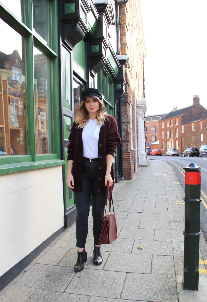 What to wear with an oversized cardigan