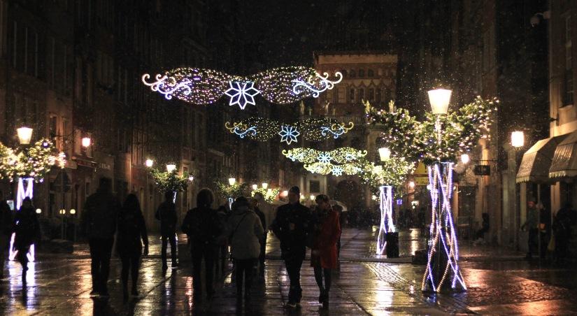 Gdansk Christmas lights old town