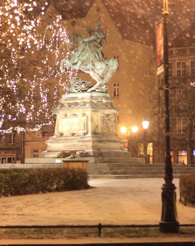 Gdansk December snow