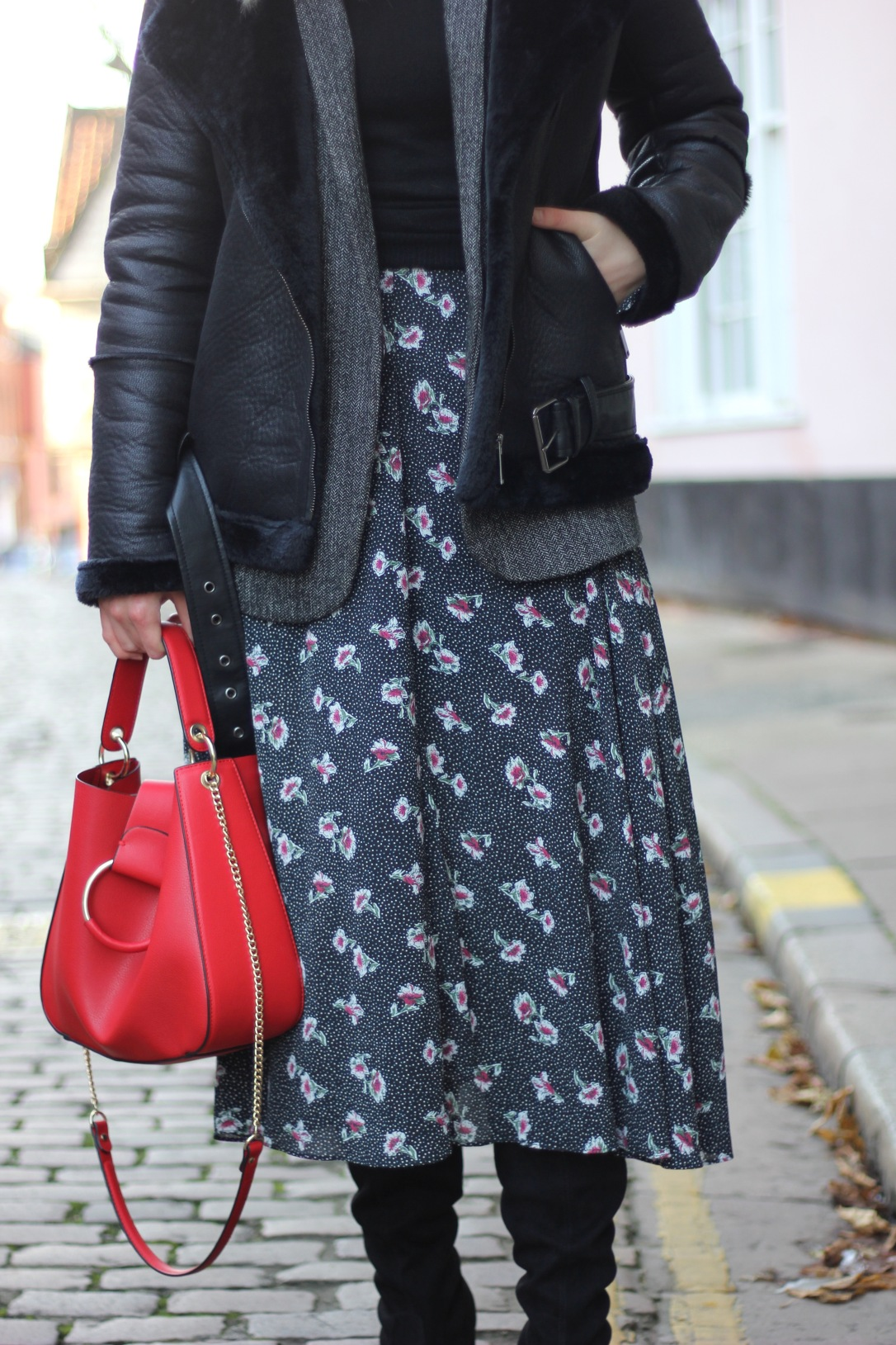 How to style a midi dress for winter