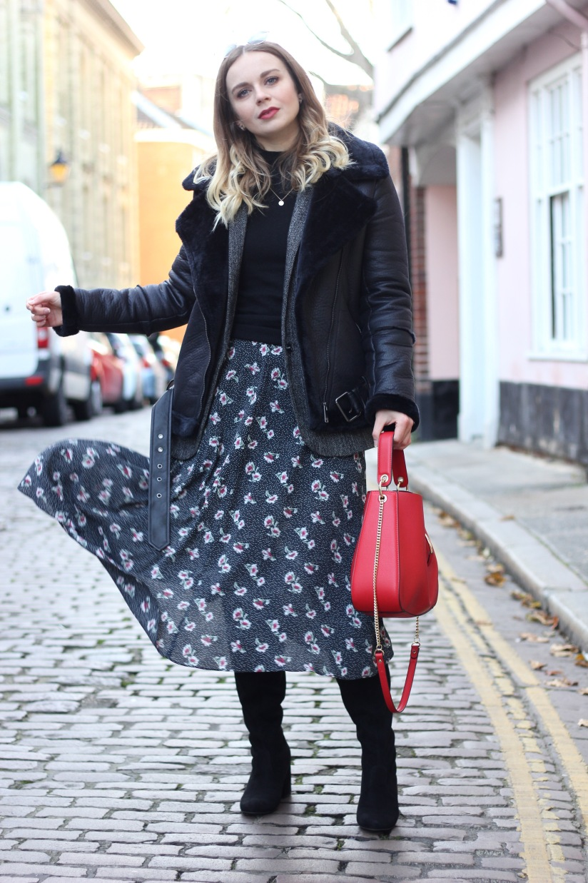 How to style a midi dress in winter