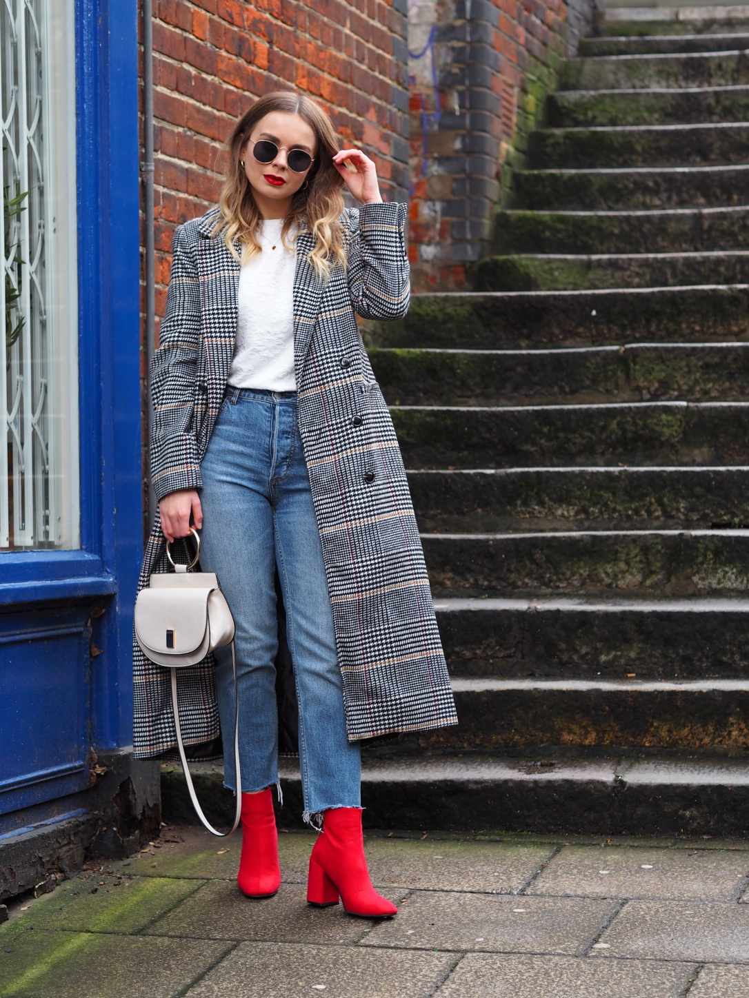 How to style red boots