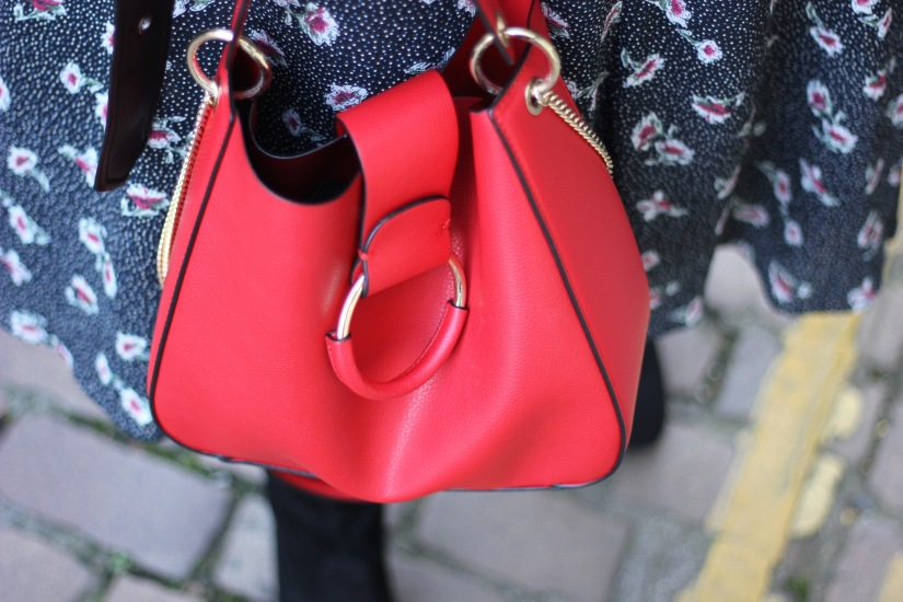 Red Zara bag
