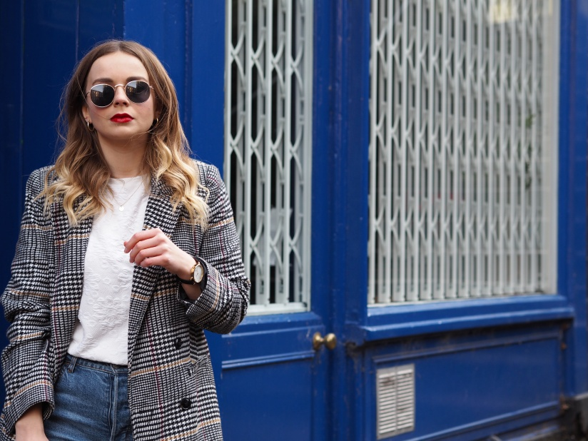 How to style a checked coat