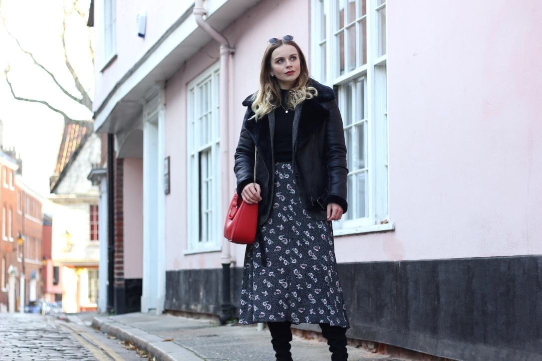 What to wear with a midi dress when its cold