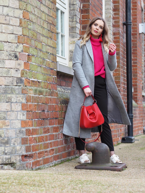 Grey maxi coat
