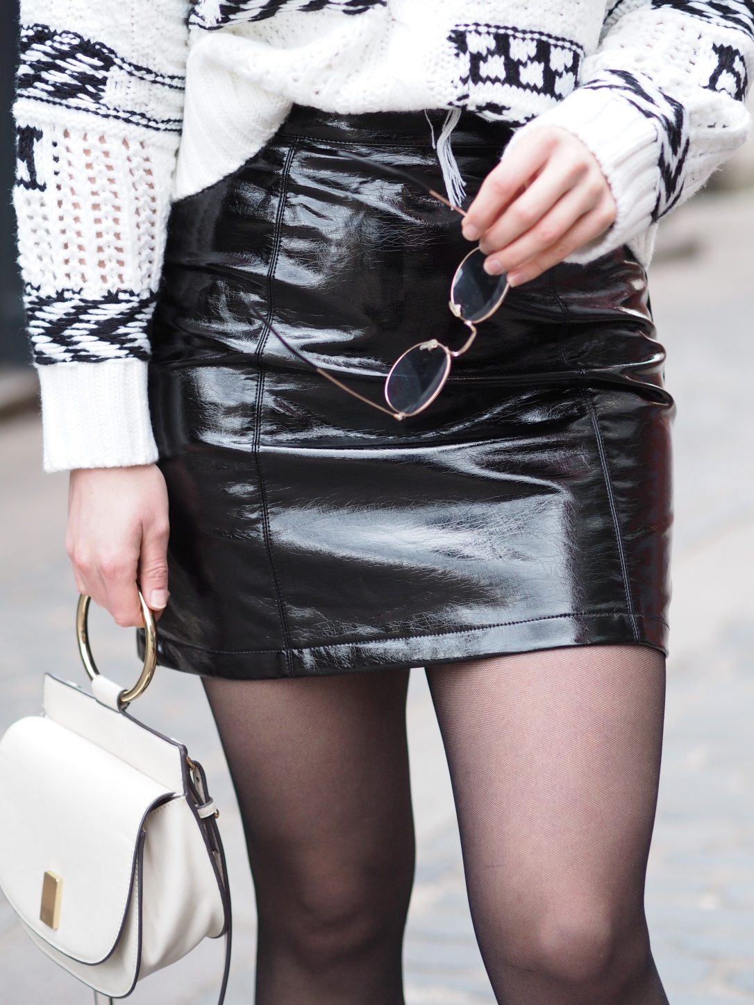 New Look vinyl skirt