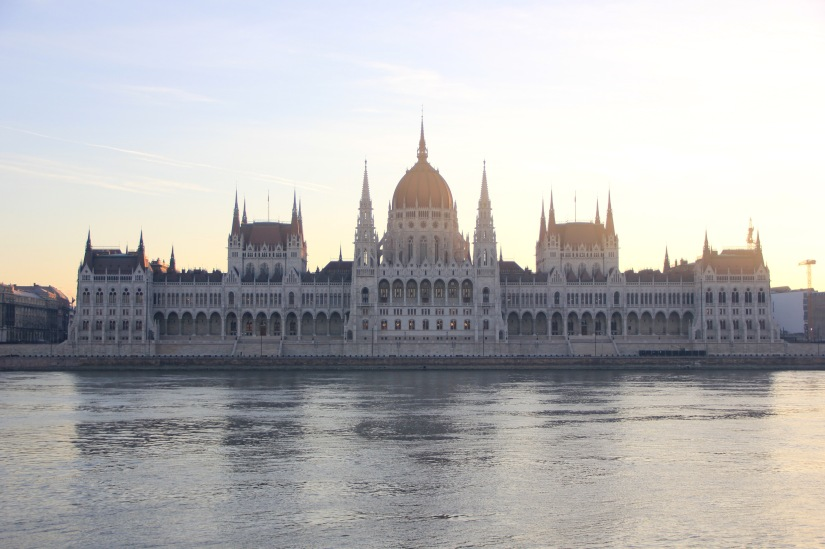 Hungarian Parliament building sunrise