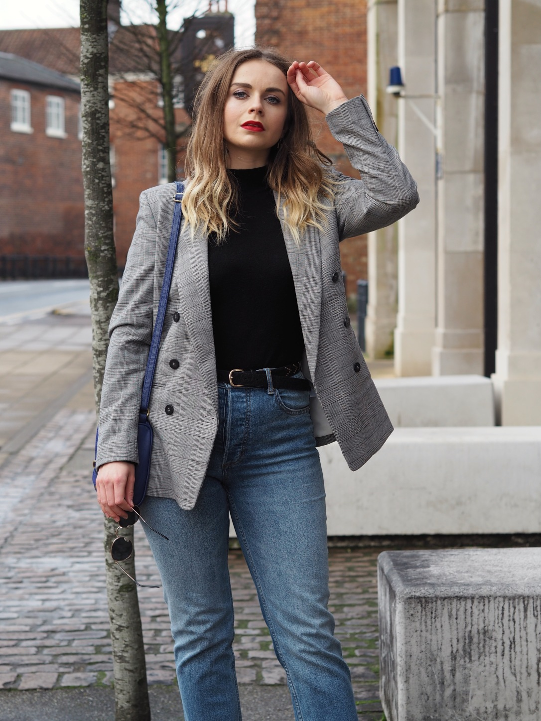 How to style a checked blazer for work