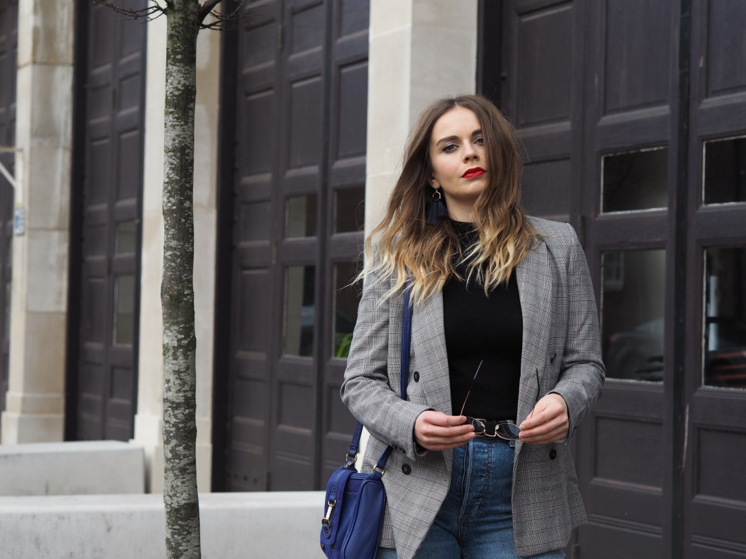 How to style a checked blazer