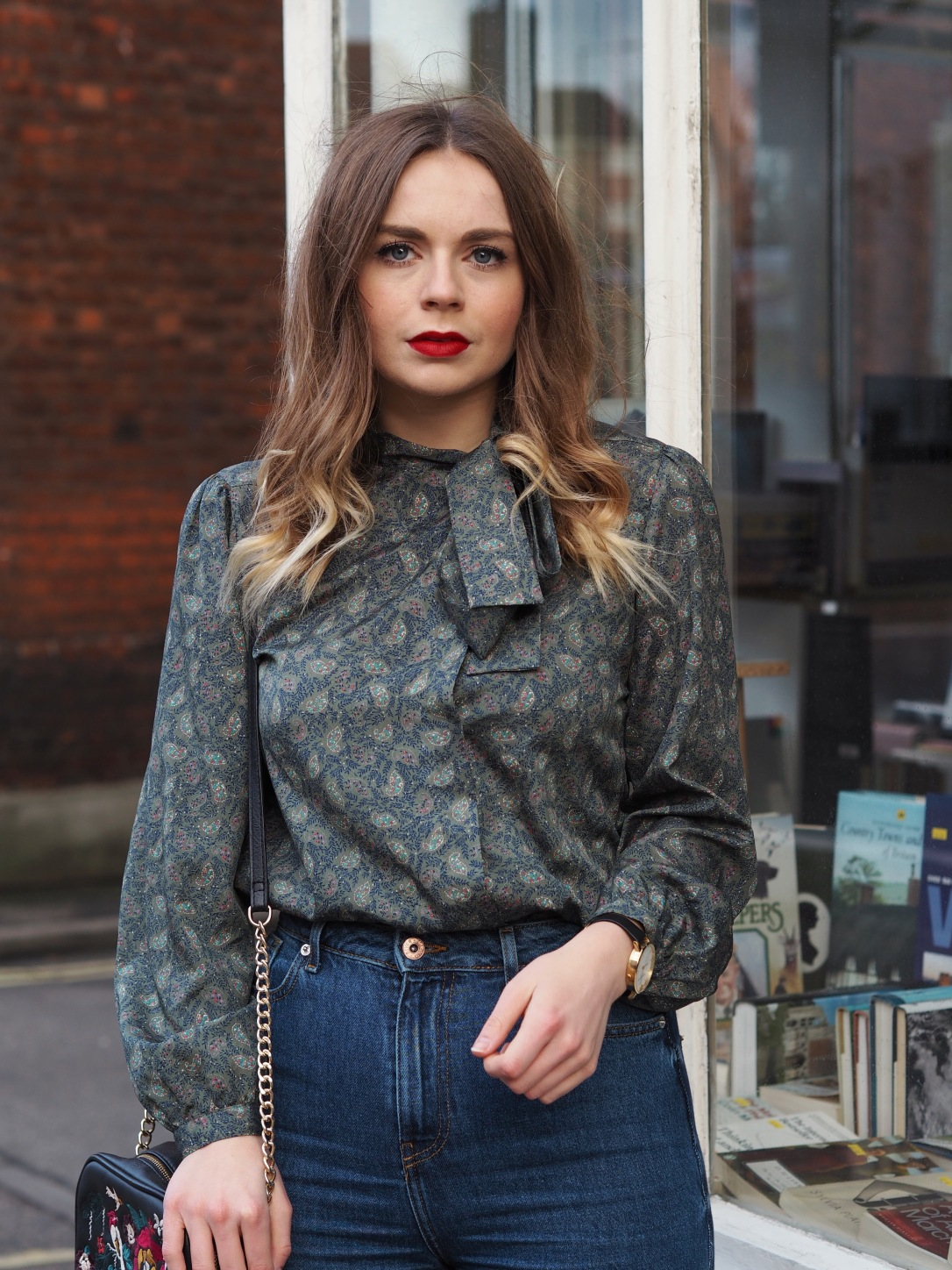 How to style a vintage blouse